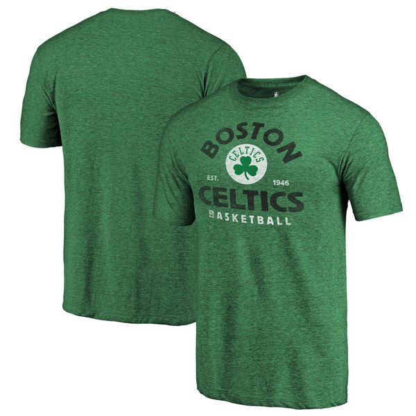 Boston Celtics Fanatics Branded Kelly Green Vintage Arch Tri-Blend T-Shirt