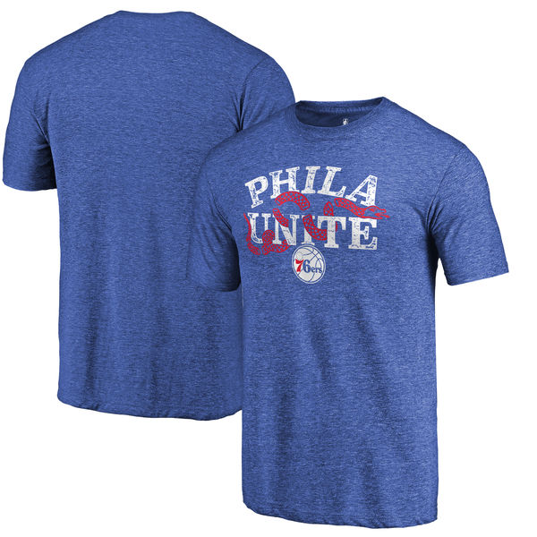 Philadelphia 76ers Fanatics Branded Royal Hometown Collection Join Or Die Tri-Blend T-Shirt