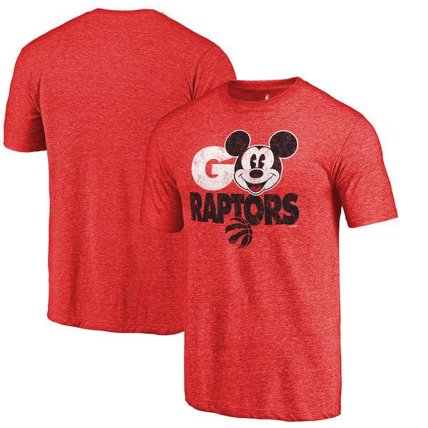 Toronto Raptors Fanatics Branded Red Disney Rally Cry Tri-Blend T-Shirt