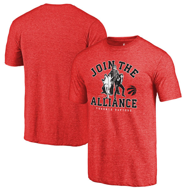Toronto Raptors Fanatics Branded Red Star Wars Alliance Tri-Blend T-Shirt