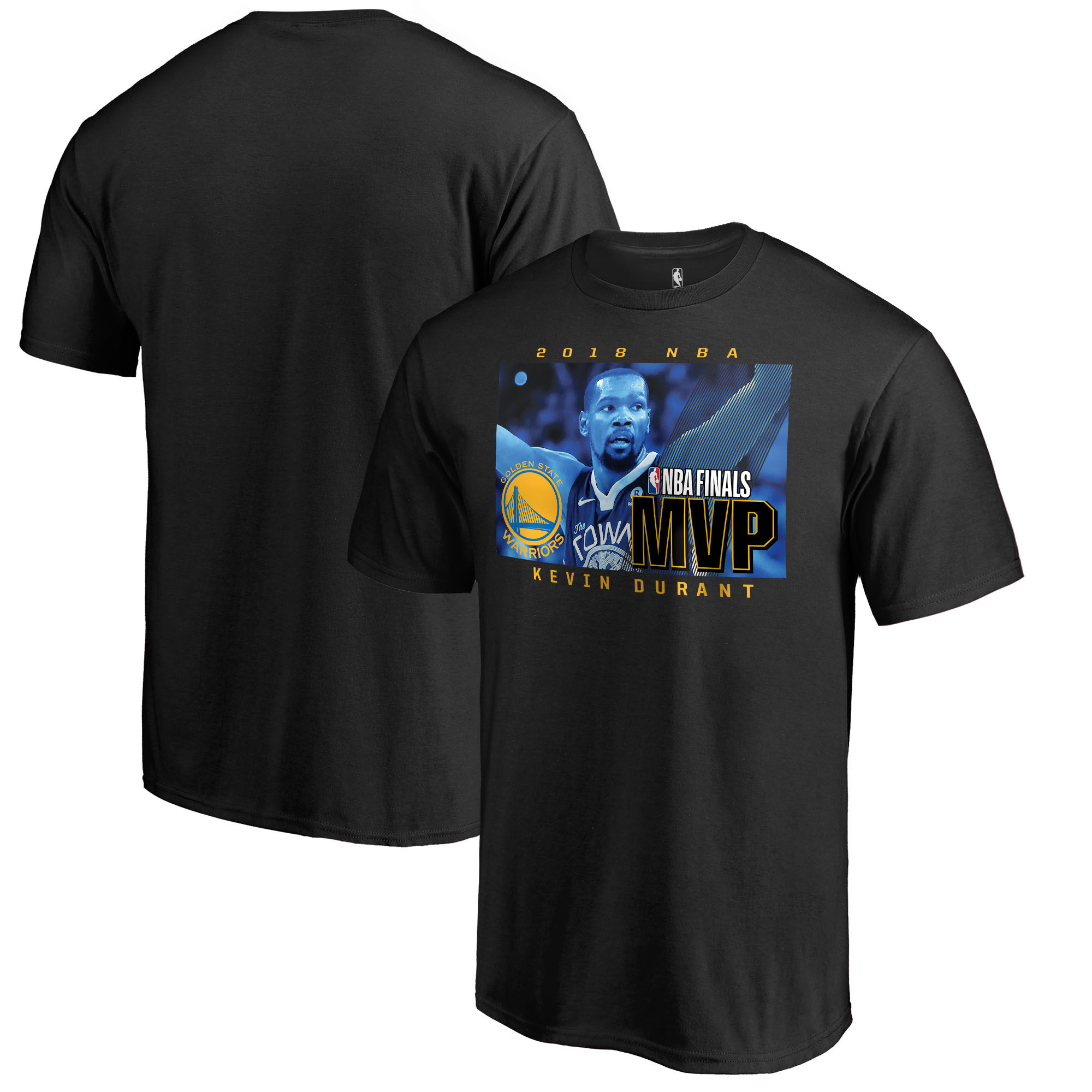 Golden State Warriors 35Kevin Durant Fanatics Branded 2018 NBA Finals Champions MVP T-Shirt Black