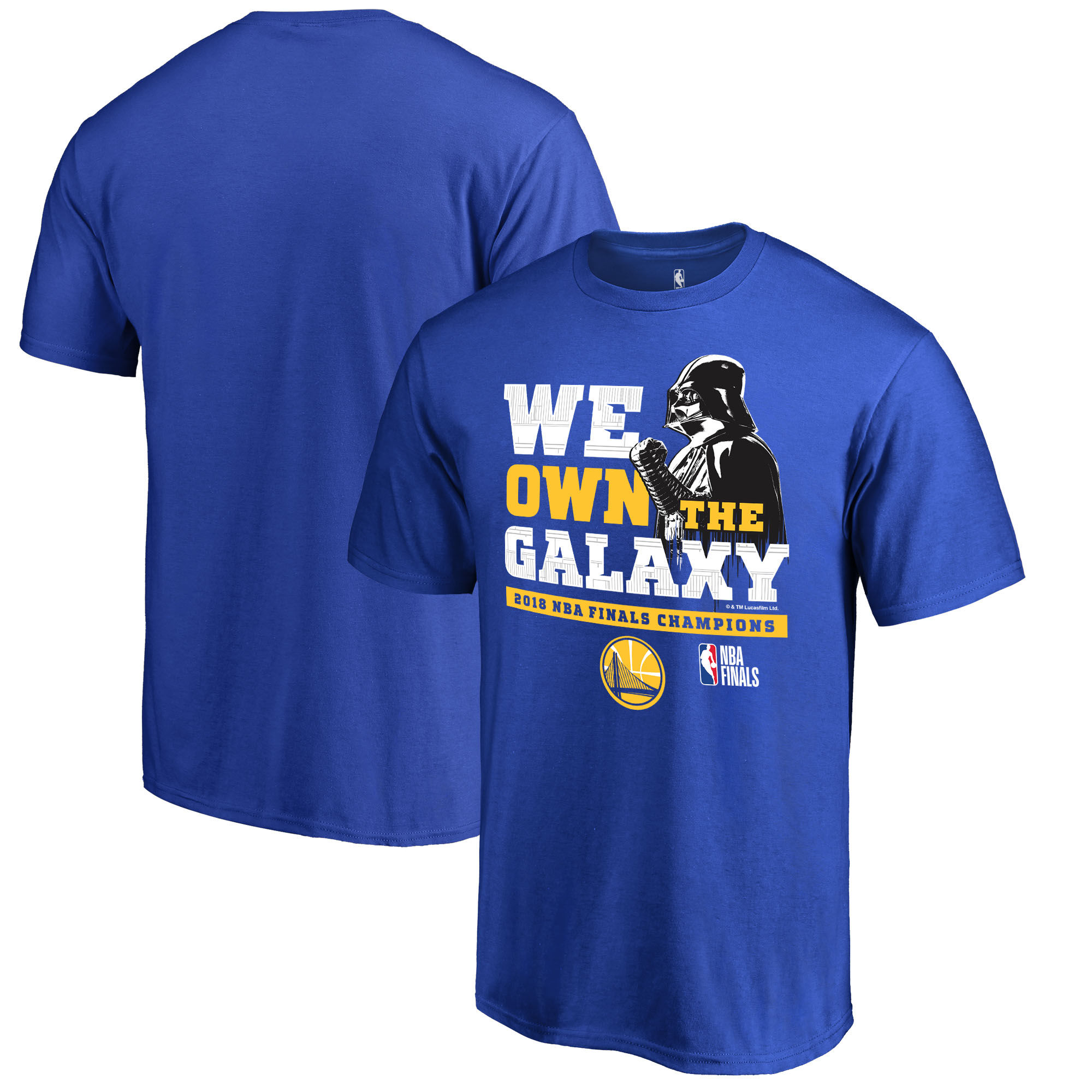Golden State Warriors Fanatics Branded 2018 NBA Finals Champions Star Wars Own the Galaxy T-Shirt Royal