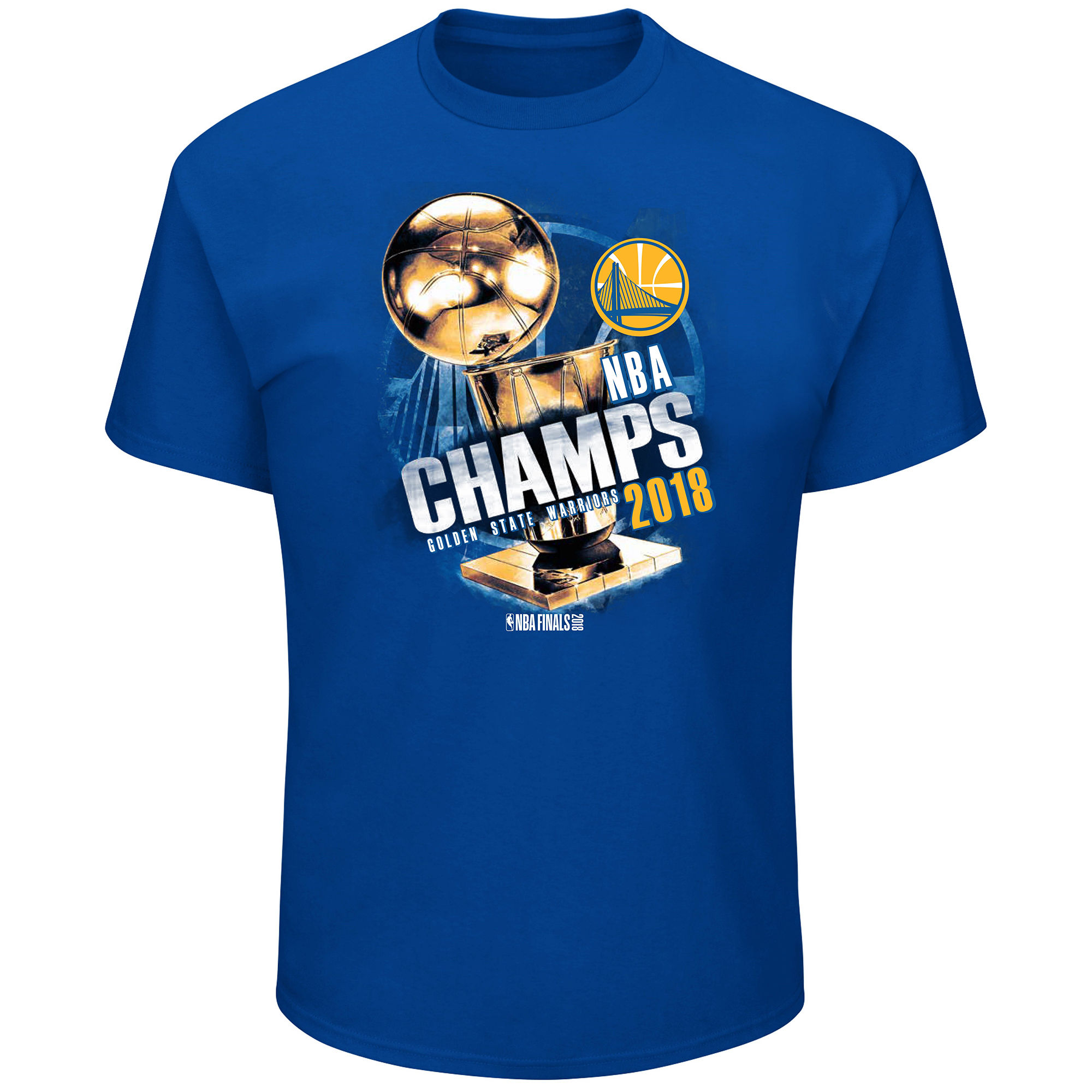 Golden State Warriors Majestic 2018 NBA Finals Champions Moment of Greatness Big & Tall T-Shirt Royal