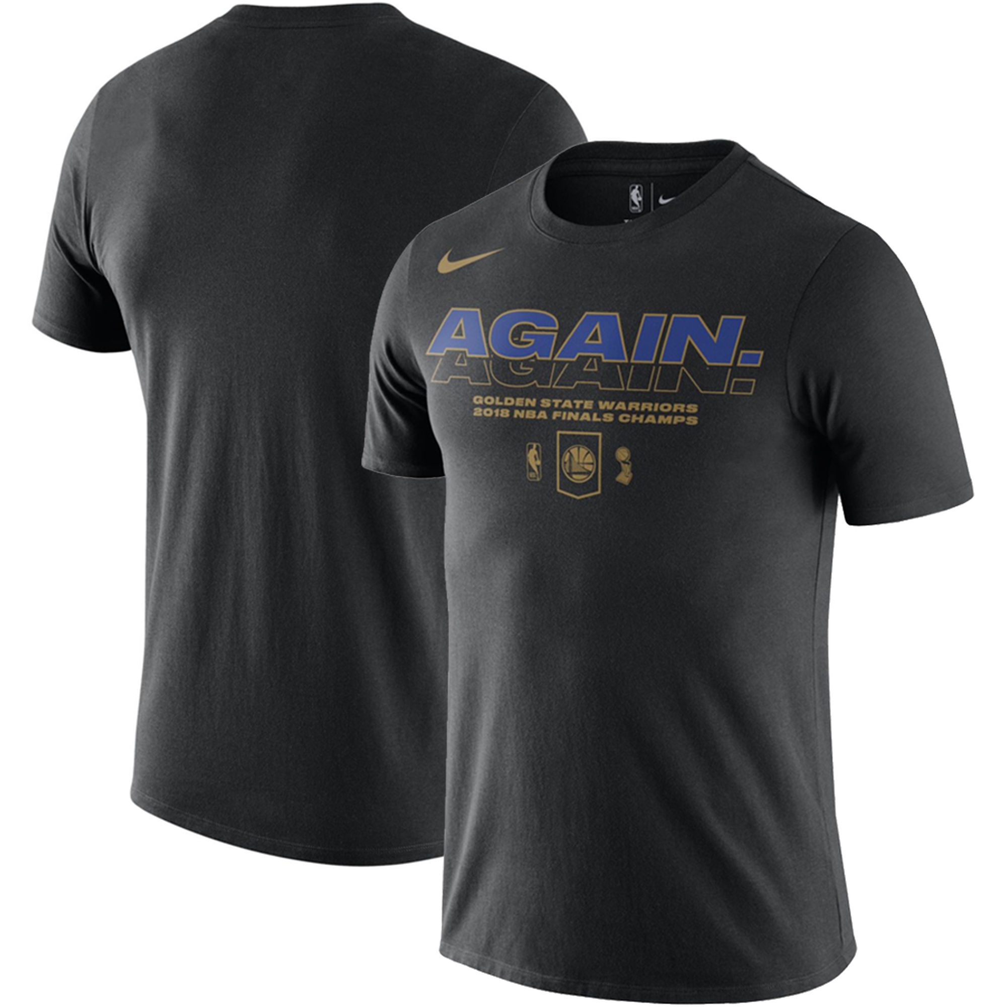 Golden State Warriors Nike 2018 NBA Finals Champions Celebration Mantra DFCT T-Shirt Black