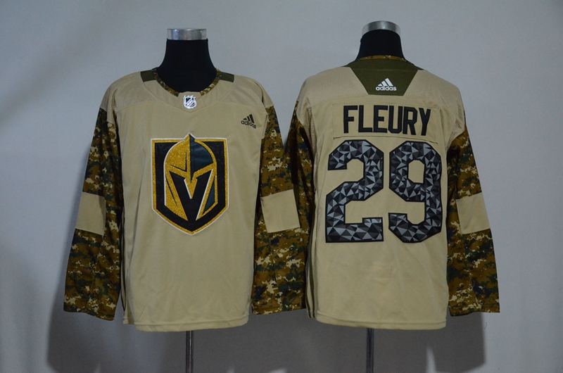 Vegas Golden Knights 29 Marc-Andre Fleury Camo 2017 Veterans Day Adidas Jersey