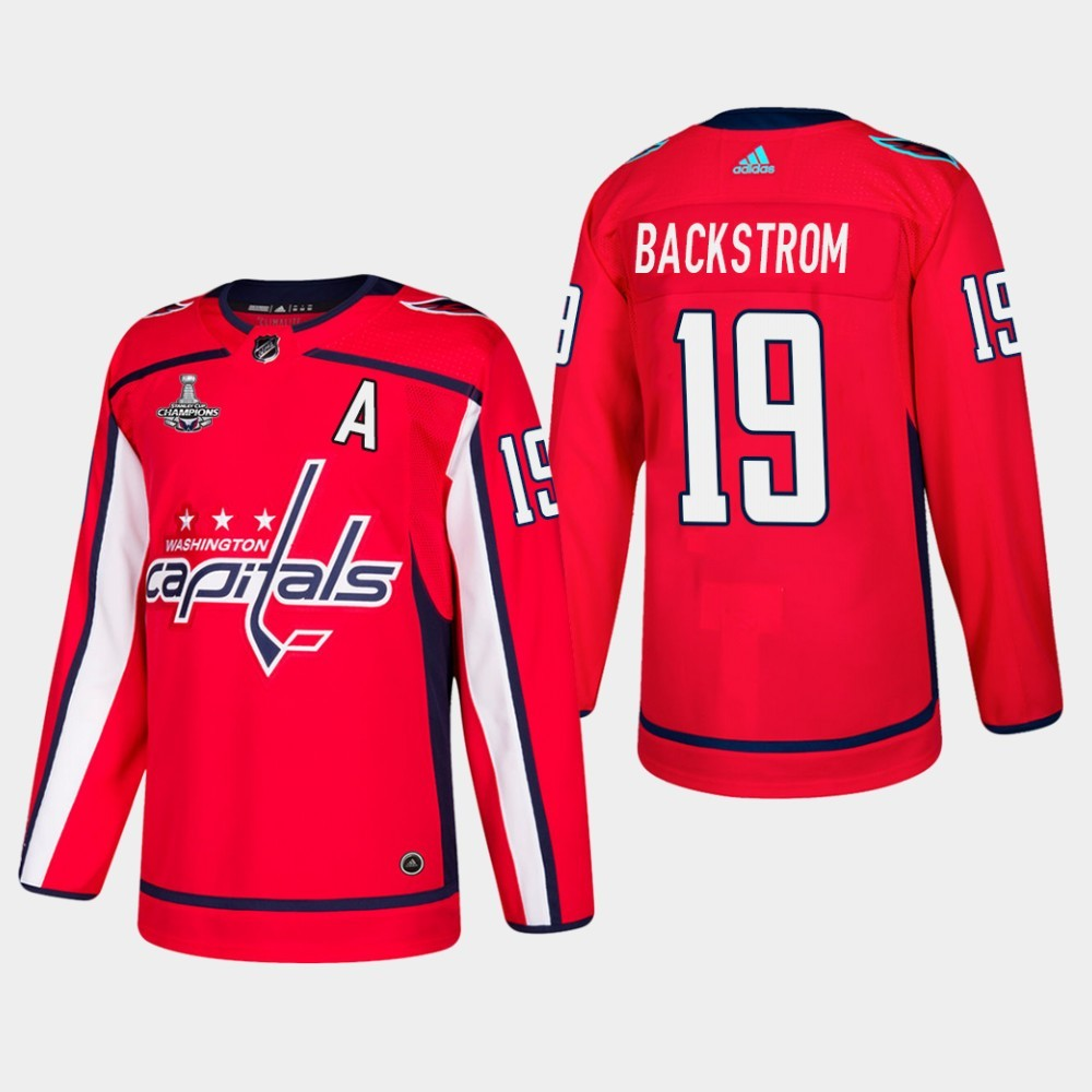 Capitals 19 Nicklas Backstrom Red 2018 Stanley Cup Champions Adidas Jersey
