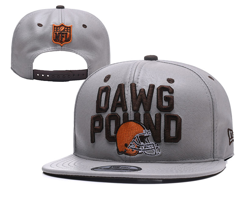 Browns Dawg Pound Gray Adjustable Hat YD