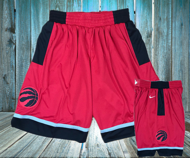 Raptors Red Nike Swingman Shorts
