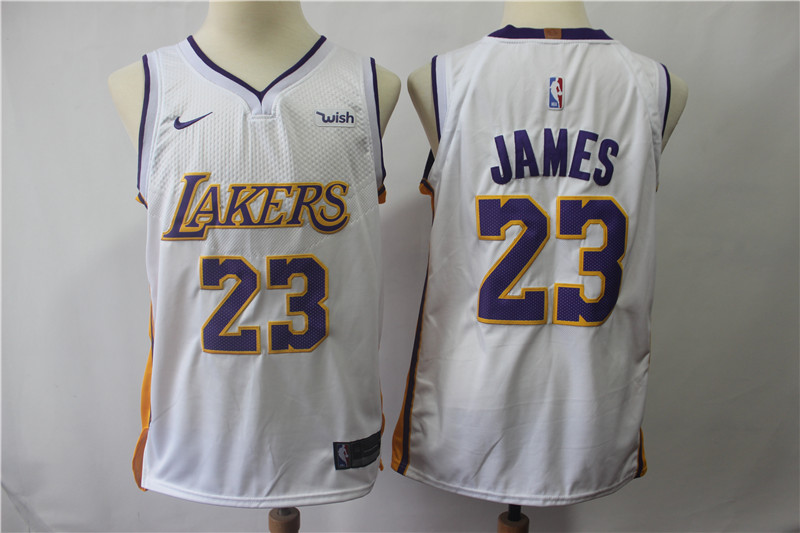 Lakers 23 Lebron James White Nike Authentic Jersey
