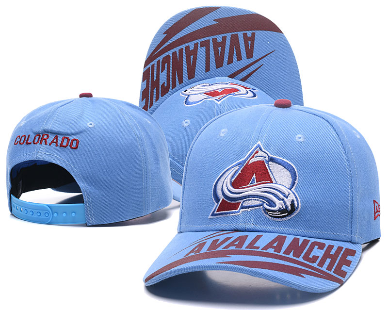Avalanche Team Logo Blue Adjustable Hat LH