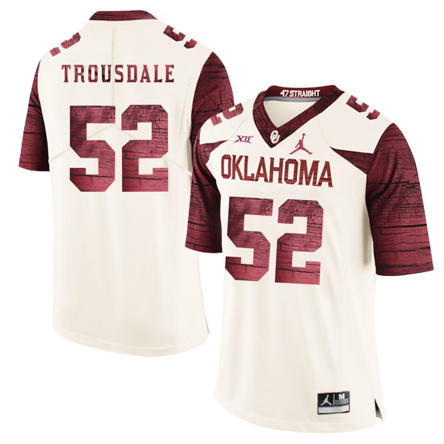 Oklahoma Sooners 52 Beau Trousdale White 47 Game Winning Streak College Football Jersey