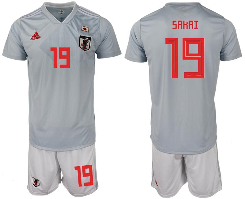 Japan 19 SAKAI Away 2018 FIFA World Cup Soccer Jersey