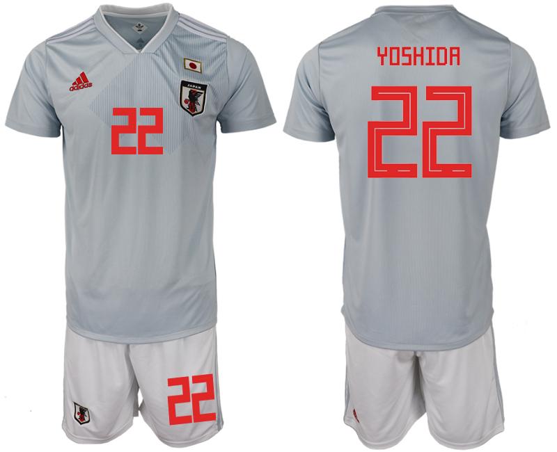 Japan 22 YOSHIDA Away 2018 FIFA World Cup Soccer Jersey