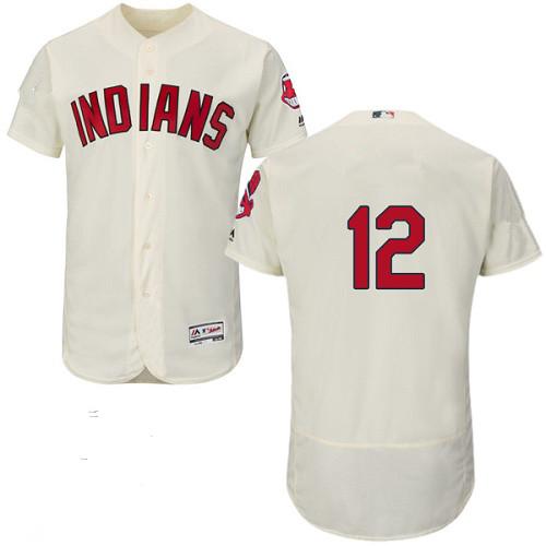 Indians 12 Francisco Lindor Cream Flexbase Jersey