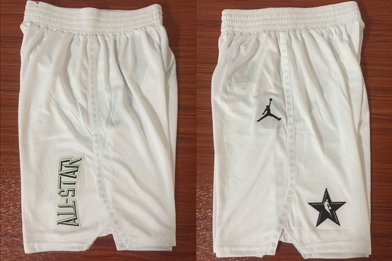 NBA White Jordan Swingman 2018 All Star Shorts