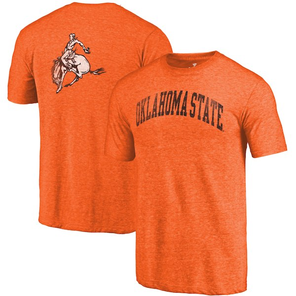 Oklahoma State Cowboys Fanatics Branded Heathered Orange Vault Two Hit Arch T-Shirt