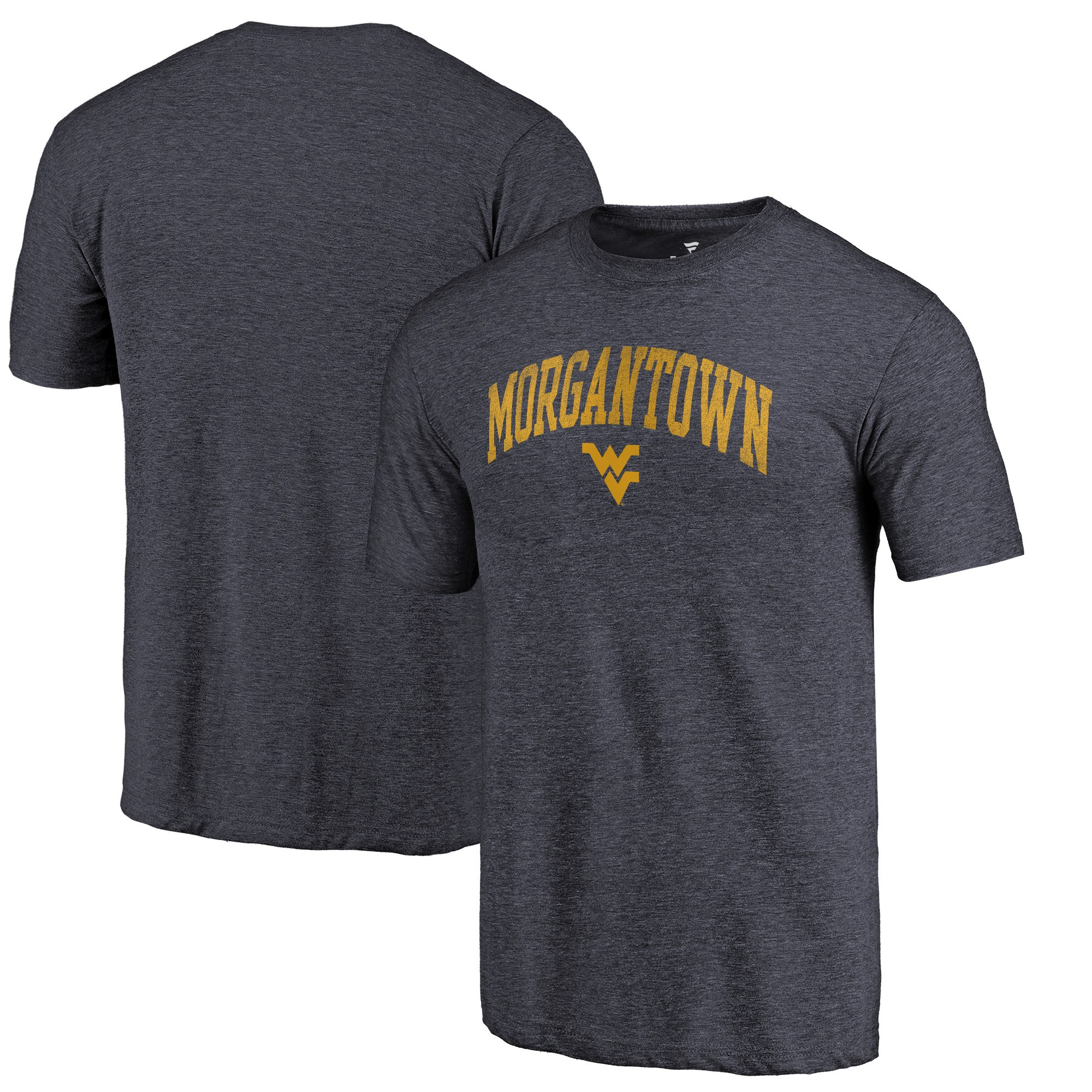 West Virginia Mountaineers Fanatics Branded Navy Hometown Arched City Tri-Blend T-Shirt