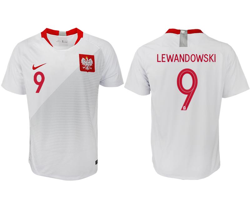 Poland Home 2018 FIFA World Cup Thailand Soccer Jersey
