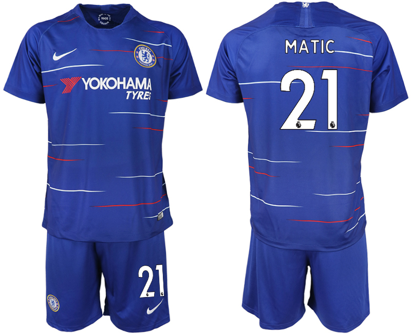2018-19 Chelsea FC 21 MATIC Home Soccer Jersey