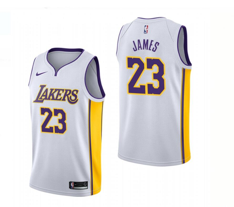 Lakers 23 Lebron James White Nike Swingman Jersey