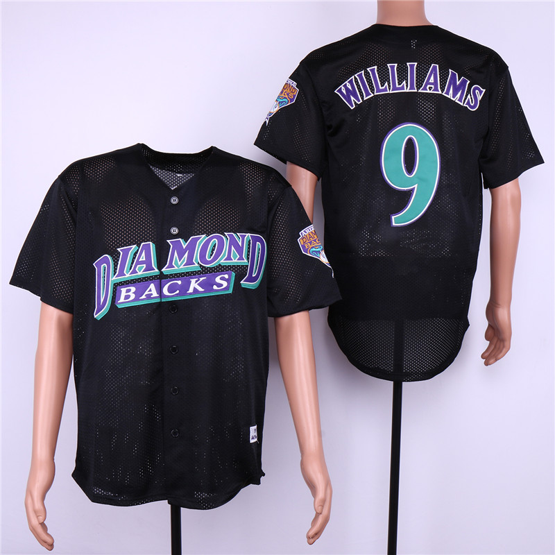 Diamondbacks 9 Matt Williams Black Mesh Jersey