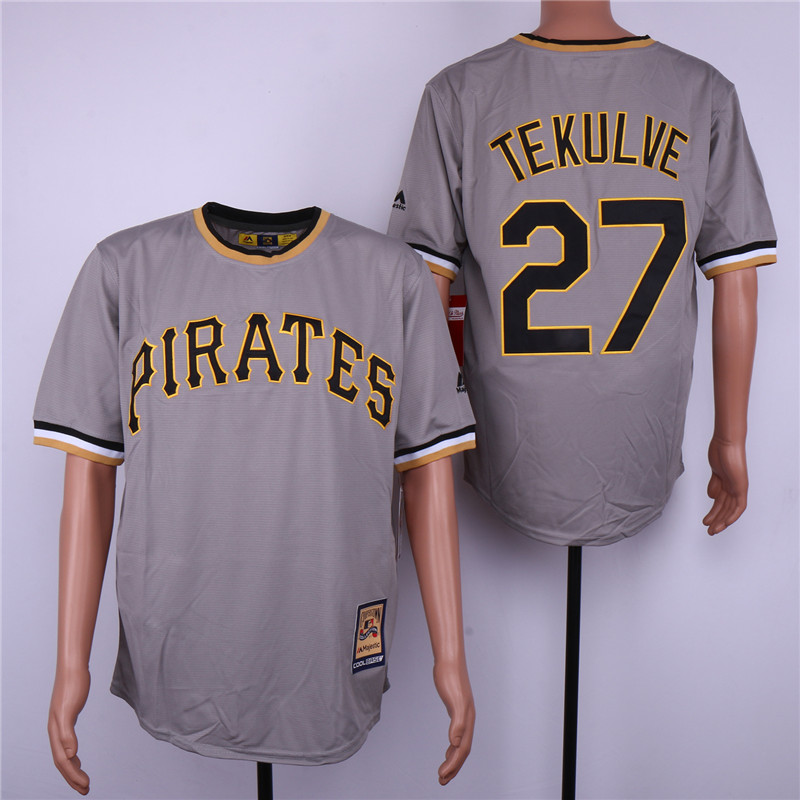 Pirates 23 Kent Tekulve Gray Cooperstown Collection Cool Base Jersey