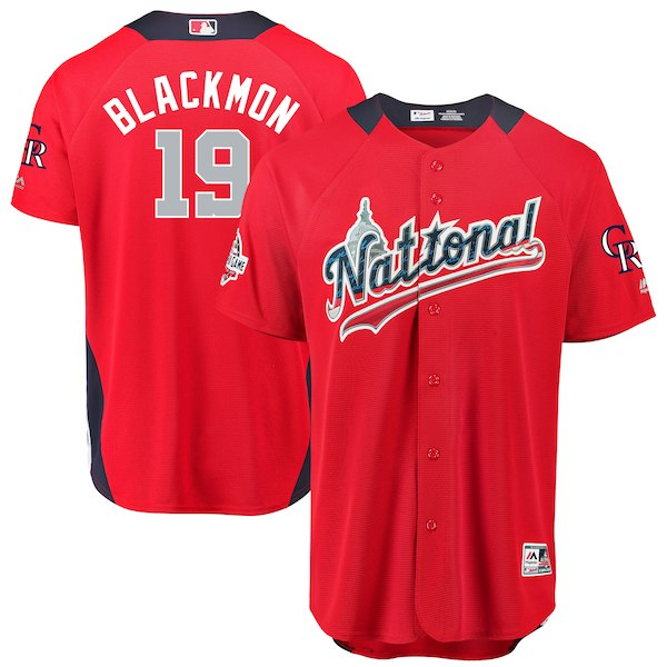 National League 19 Charlie Blackmon Red 2018 MLB All-Star Game Home Run Derby Jersey