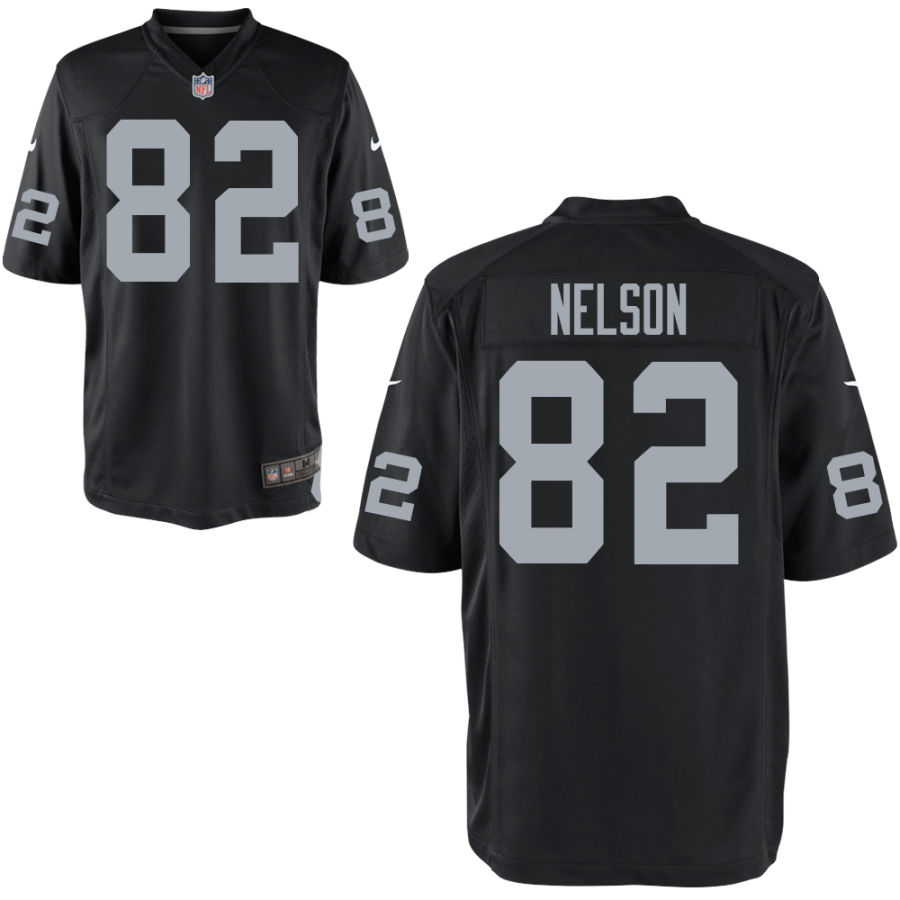 Nike Raiders 82 Jordy Nelson Black Elite Jersey