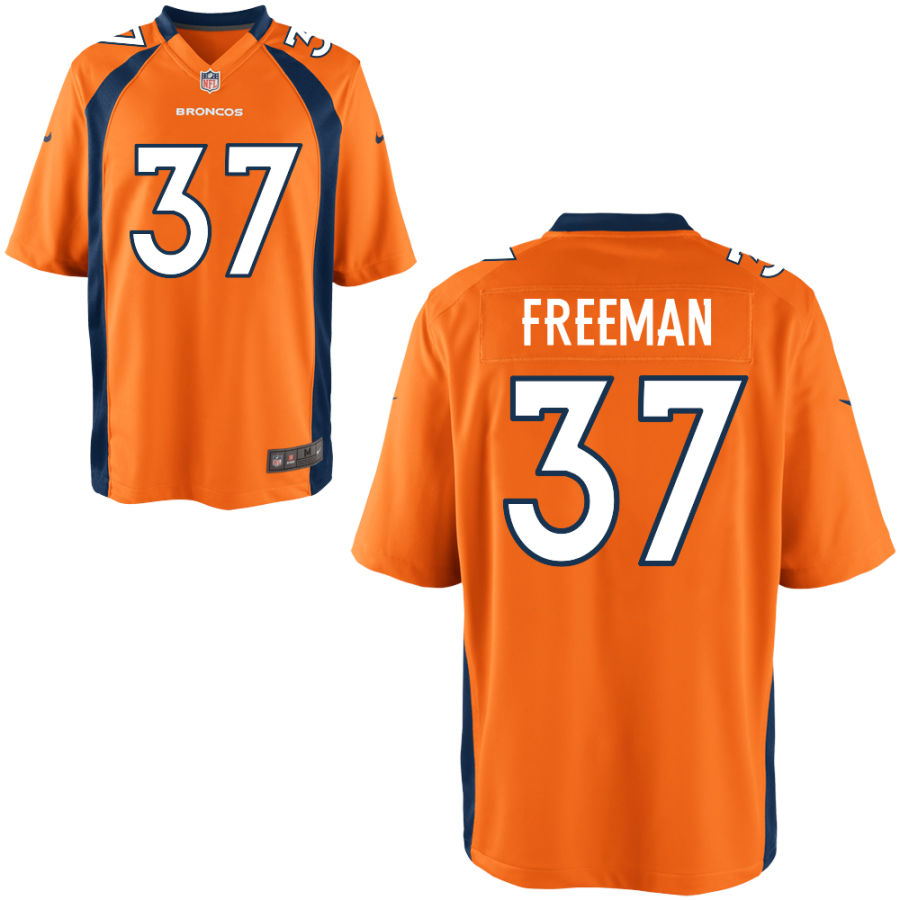 Nike Broncos 37 Royce Freeman Orange Elite Jersey