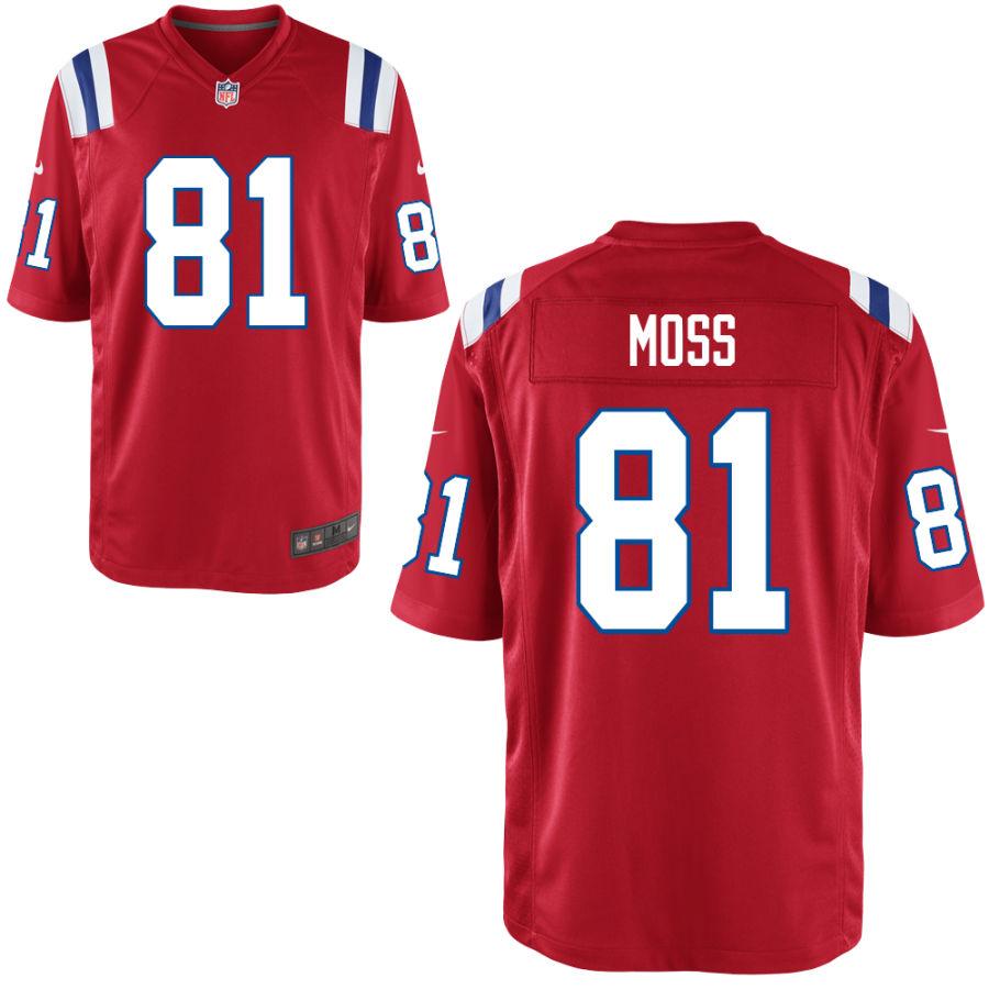 Nike Patriots 81 Randy Moss Red Elite Jersey