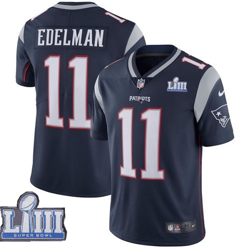 Nike Patriots 11 Julian Edelman Navy Youth 2019 Super Bowl LIII Vapor Untouchable Limited Jersey