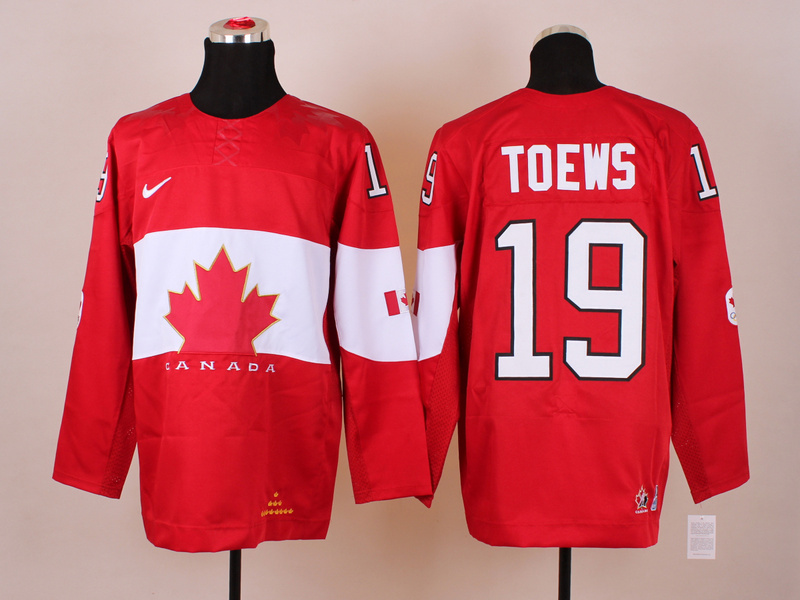 Canada 19 Toews Red 2014 Olympics Jerseys