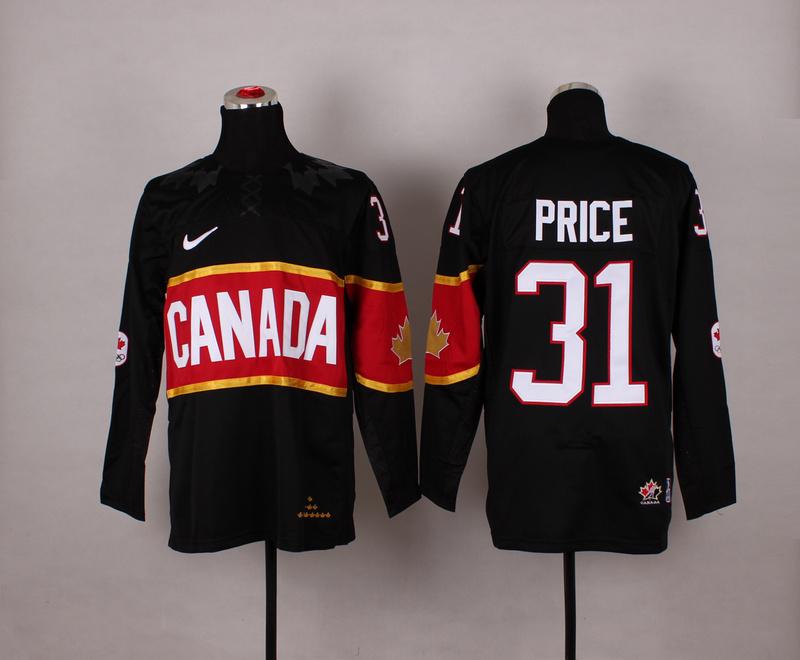 Canada 31 Price Black 2014 Olympics Jerseys
