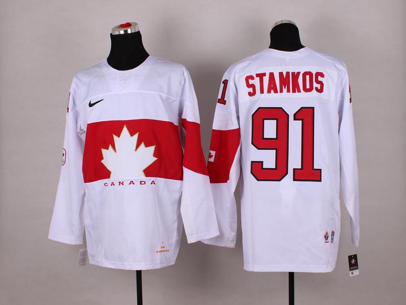 Canada 91 Stamkos White 2014 Olympics Jerseys
