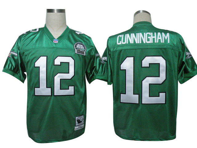 Eagles 12 Cunningham Green Throwback Jerseys