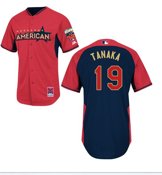 American League Yankees 19 Tanaka Red 2014 All Star Jerseys