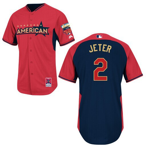 American League Yankees 2 Jeter Red 2014 All Star Jerseys