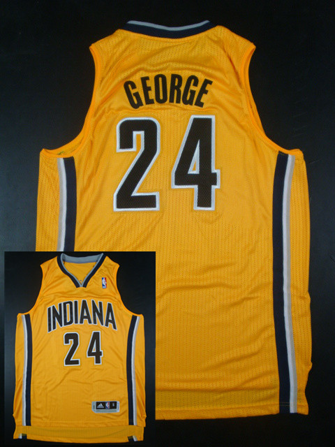 Pacers 24 Paul George Gold AAA Jerseys