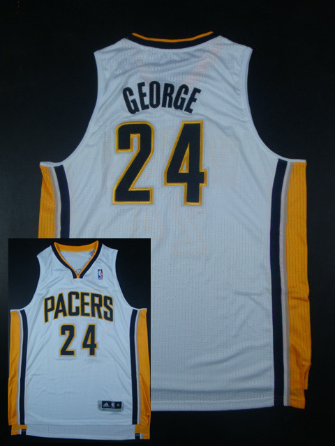 Pacers 24 Paul George White AAA Jerseys