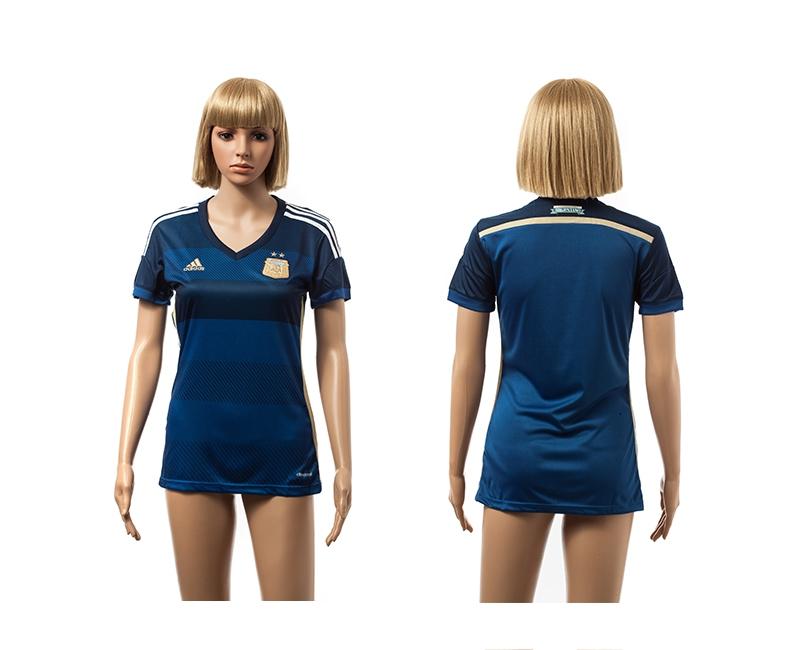 Argentina 2014 World Cup Away Soccer Women Jerseys