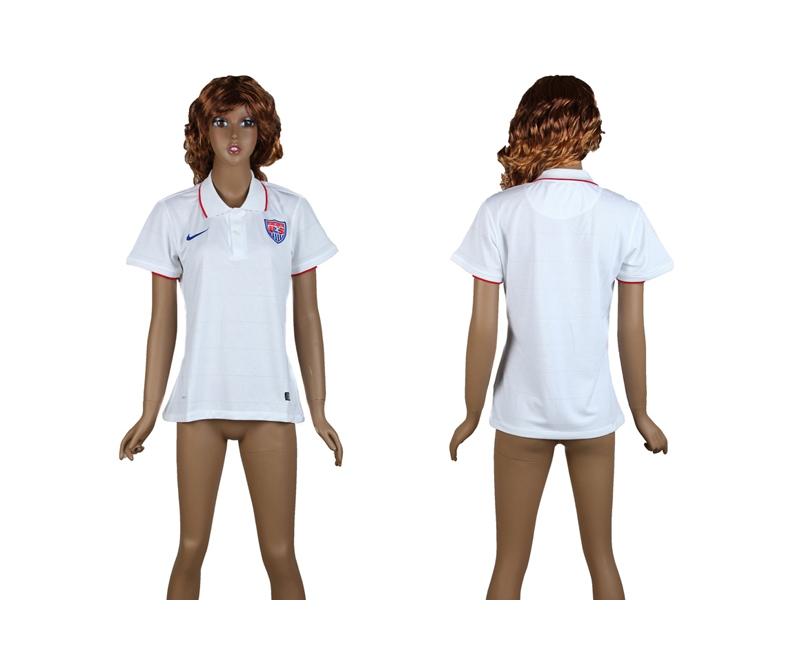 USA 2014 World Cup Home Soccer Women Jerseys