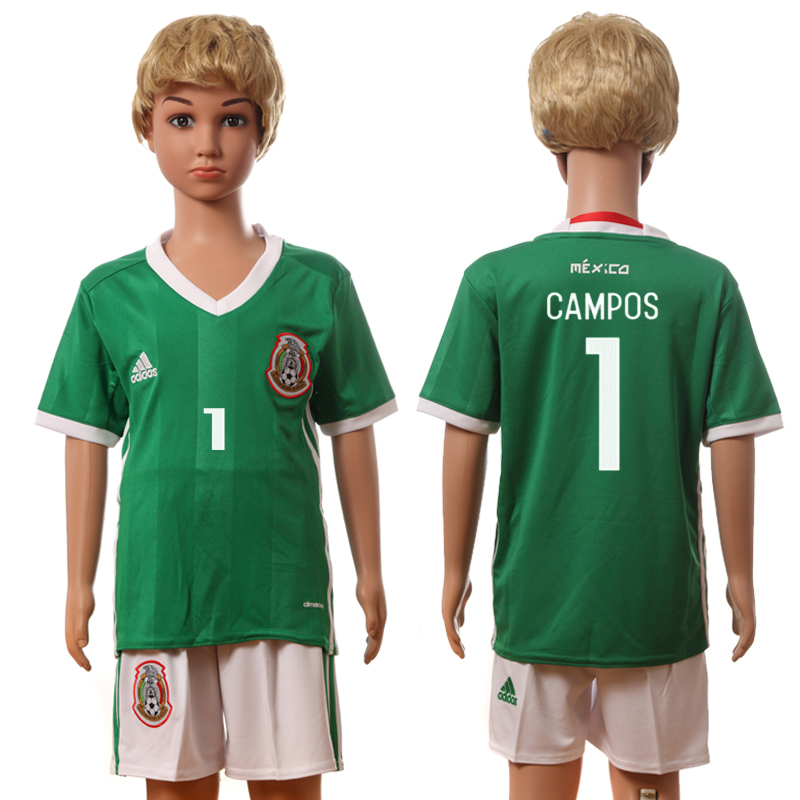 2016-17 Mexico 1 CAMPOS Home Youth Jersey