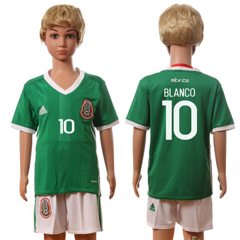 2016-17 Mexico 10 BLANCO Home Youth Jersey