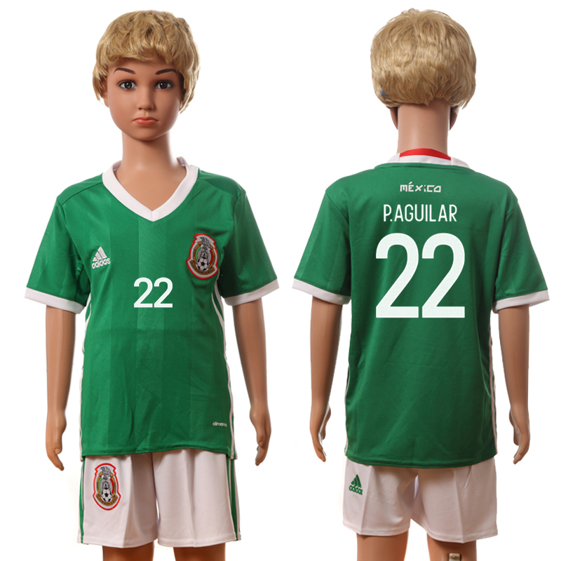 2016-17 Mexico 22 P.AGUILAR Home Youth Jersey