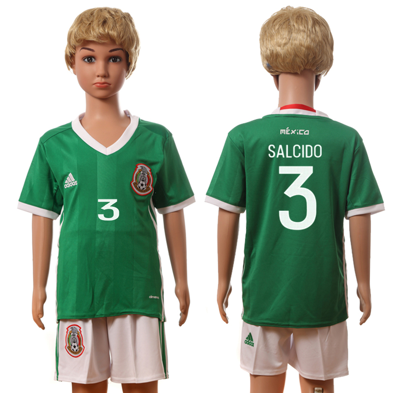 2016-17 Mexico 3 SALCIDO Home Youth Jersey