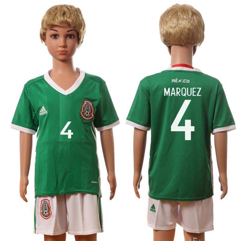 2016-17 Mexico 4 MARQUEZ Home Youth Jersey