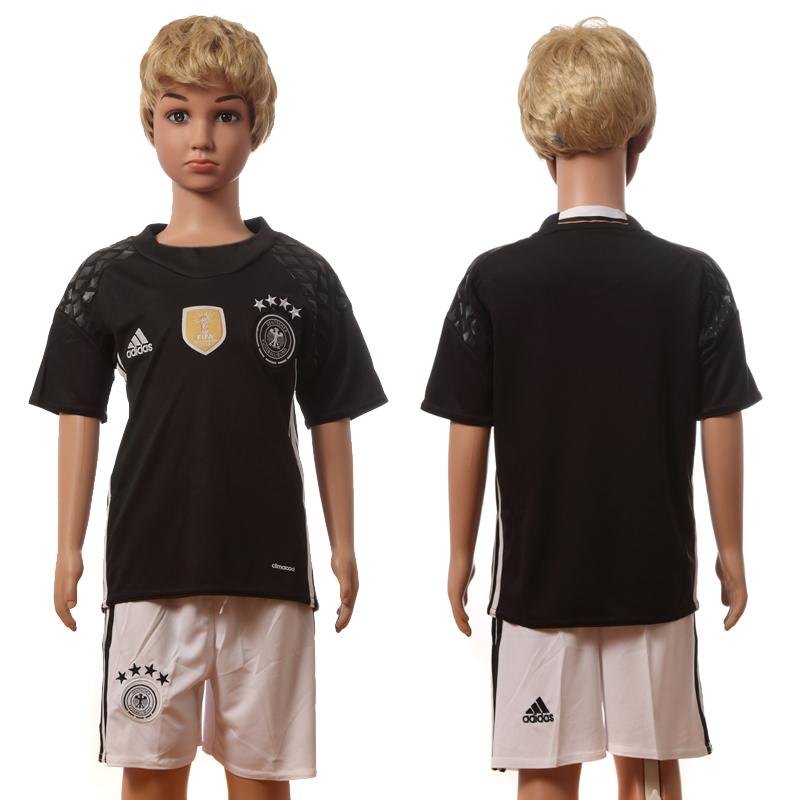 Germany Goalkeeper Youth UEFA Euro 2016 Jersey