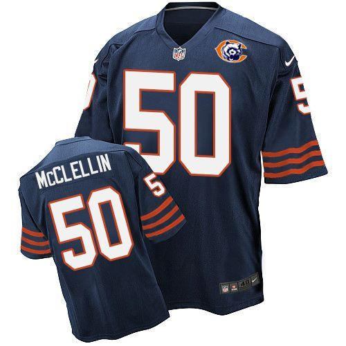 Nike Bears 50 Shea McClellin Blue Throwback Elite Jersey