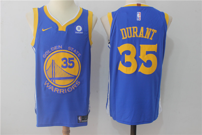 Warriors 35 Kevin Durant Blue Nike Authentic Jersey