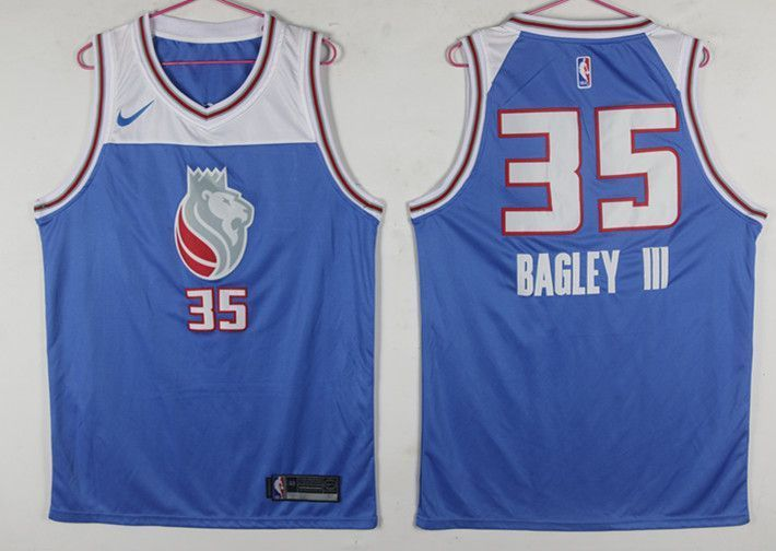 Kings 35 Marvin Bagley III Blue Nike Swingman Jersey